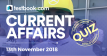 Current Affairs Quiz 13th November 2018 - Testbook