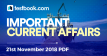 Current Affairs 21st November 2018 - Testbook