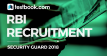 RBI Security Guard Recruitment - Testbook