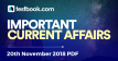 Current Affairs 20th November 2018 - Testbook