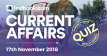 Current Affairs Quiz 17th November 2018 - Testbook