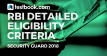 RBI Security Guard Eligibility Criteria - Testbook