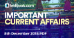 Current Affairs 8th December 2018 - Testbook