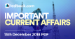 Current Affairs 13th December 2018 - Testbook