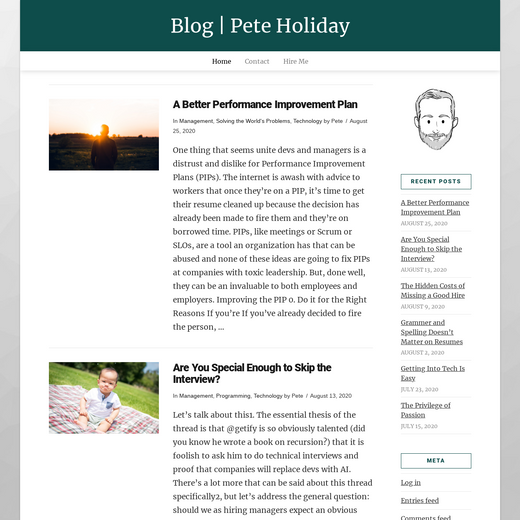 Pete Holiday's Blog