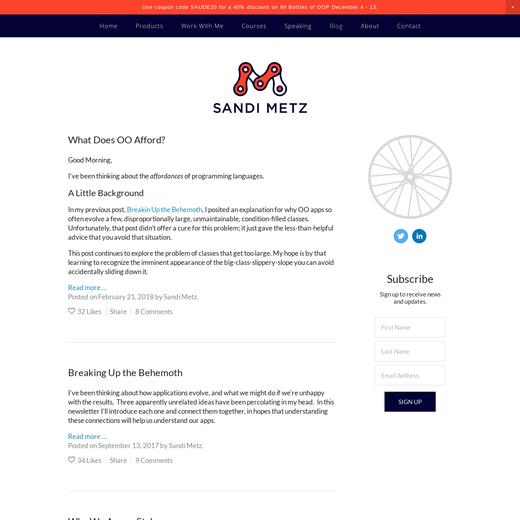 Sandi Metz' Blog