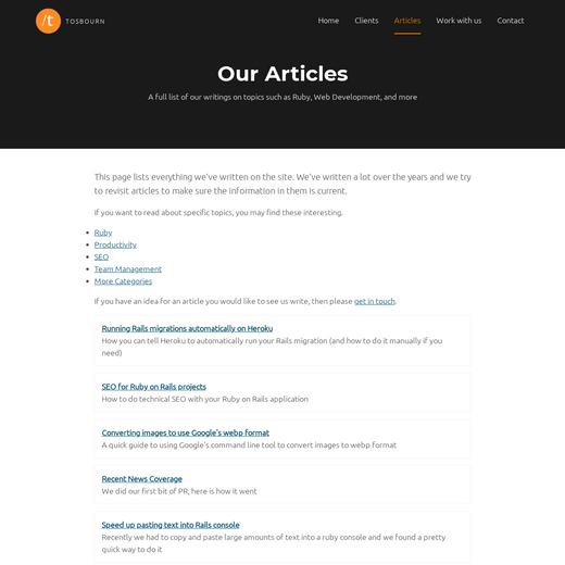 Tosbourn's Dev Blog