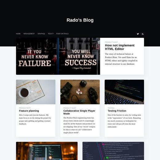 Rado's Blog
