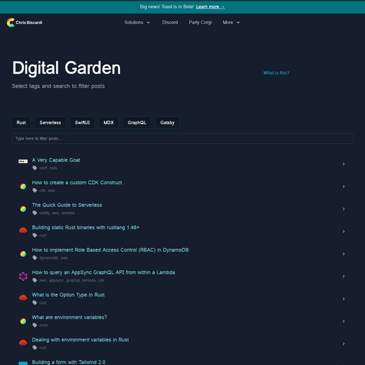 Chris Biscardi's Digital Garden