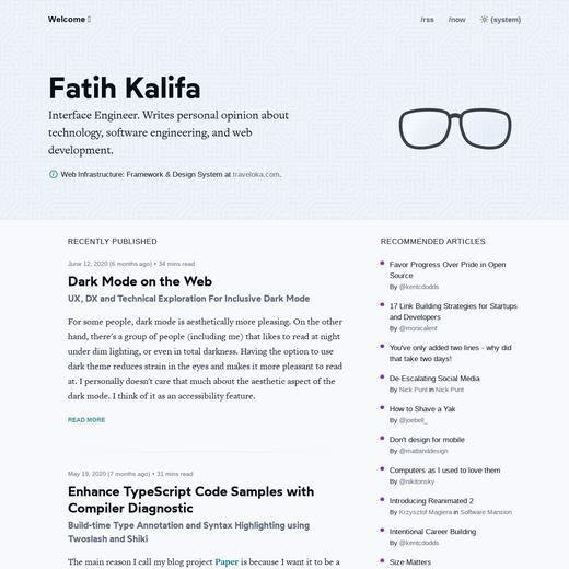 Fatih Kalifa's Blog