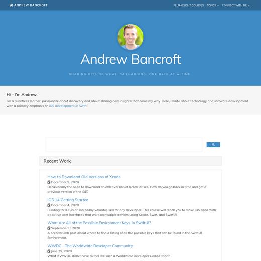 Andrew Bancroft's Blog