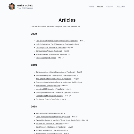 Marius Schulz' Blog