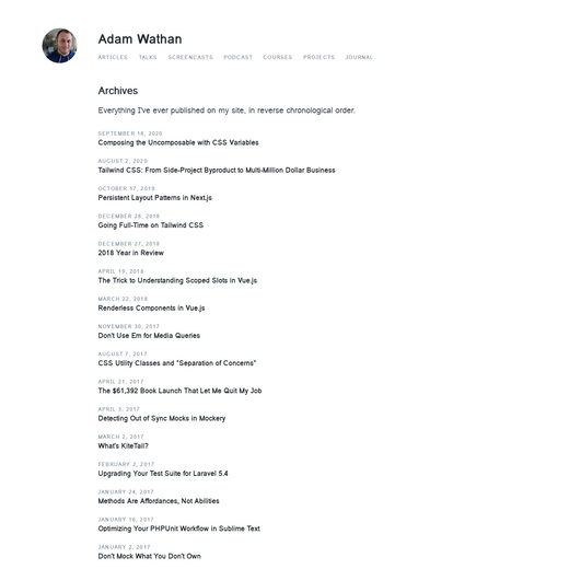Adam Wathan's Blog