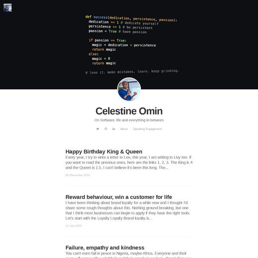 Celestine Omin's Blog