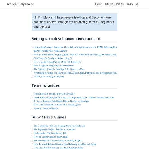 Moncef Belyamani's Coding Guides