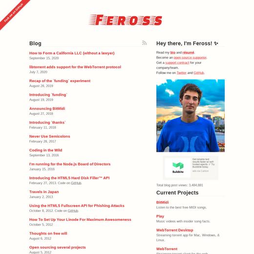 Feross' Blog