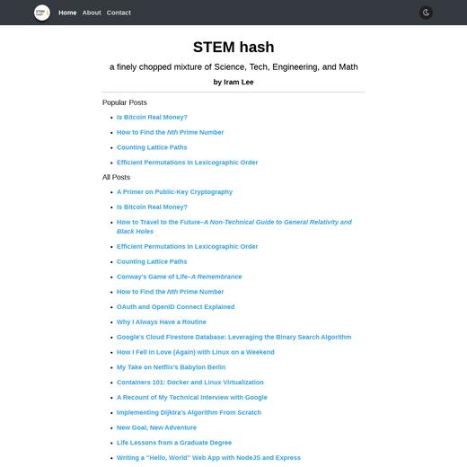 STEM hash by Iram Lee