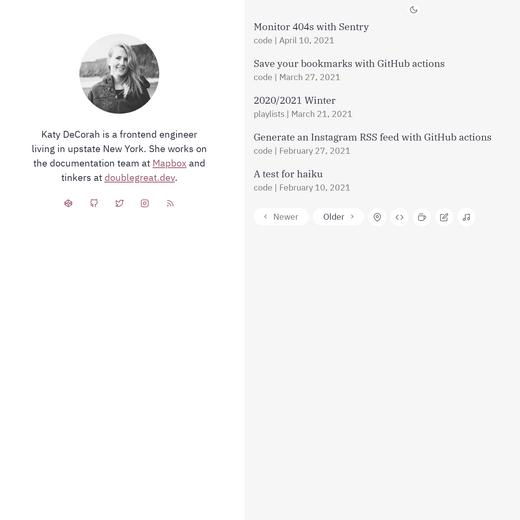 Katy Dechorah's Blog