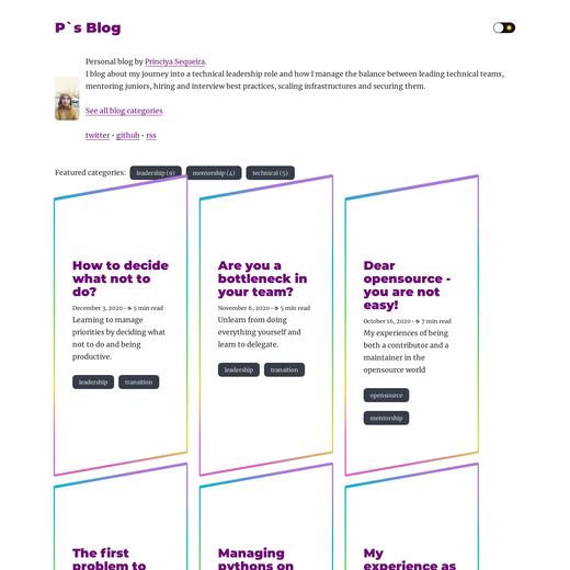 Princiya's Blog