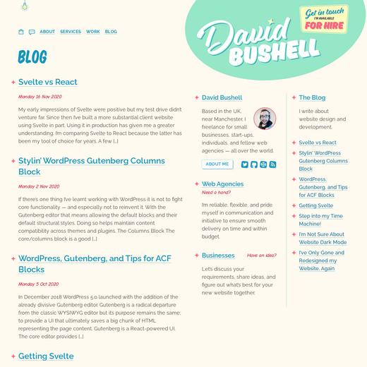 David Bushell's Blog