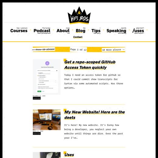 Wes Bos' Blog
