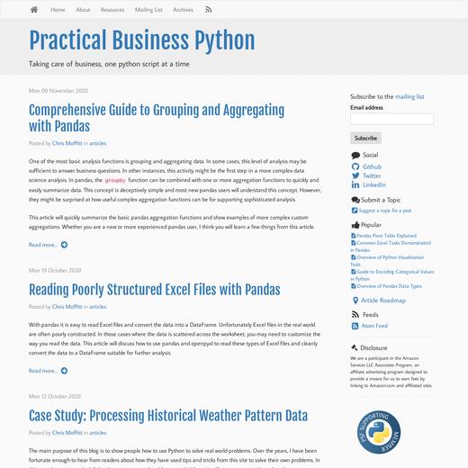 Practical Business Python