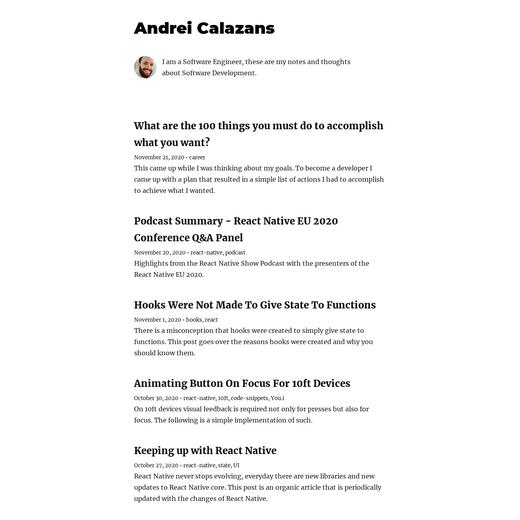 Andrei Calazans' Blog