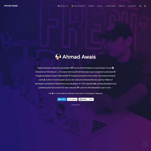 Blog for Web Developers by Ahmad Awais