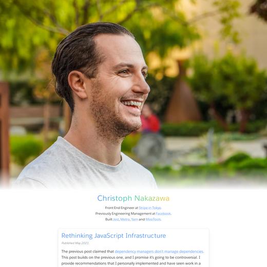 Christoph Nakazawa's Blog