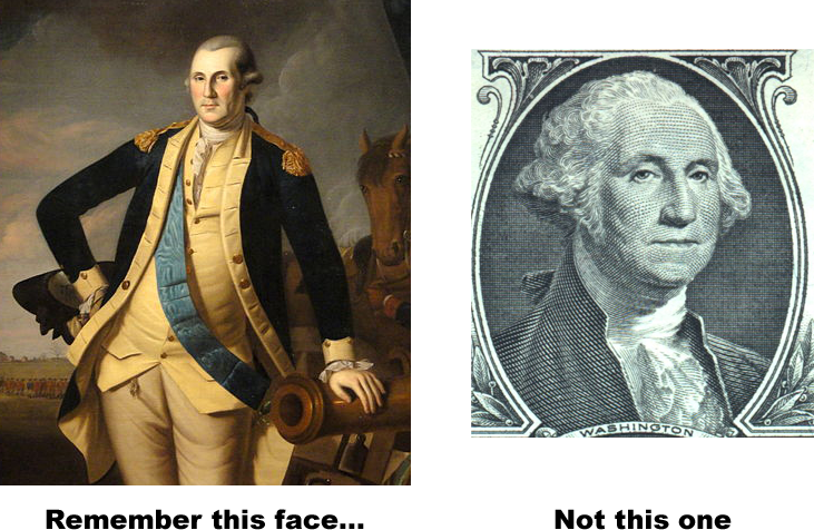 revolution badass looking George Washington battle of princeton Charles Willson Peale Gilbert Stuart