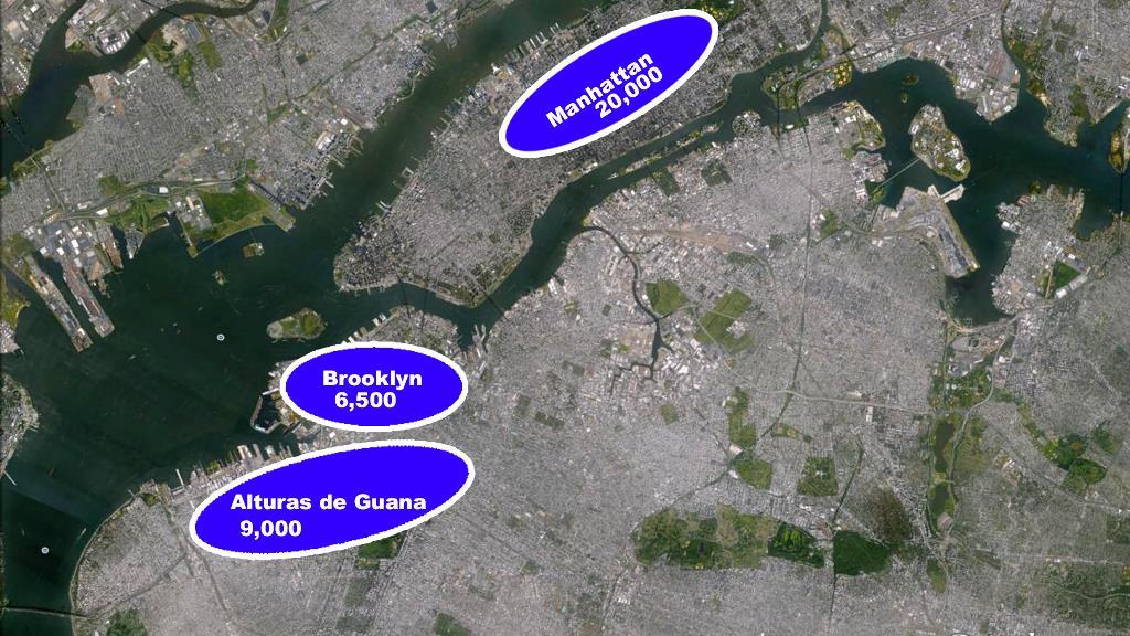 Ejército Continental Nueva York manhattan mapa