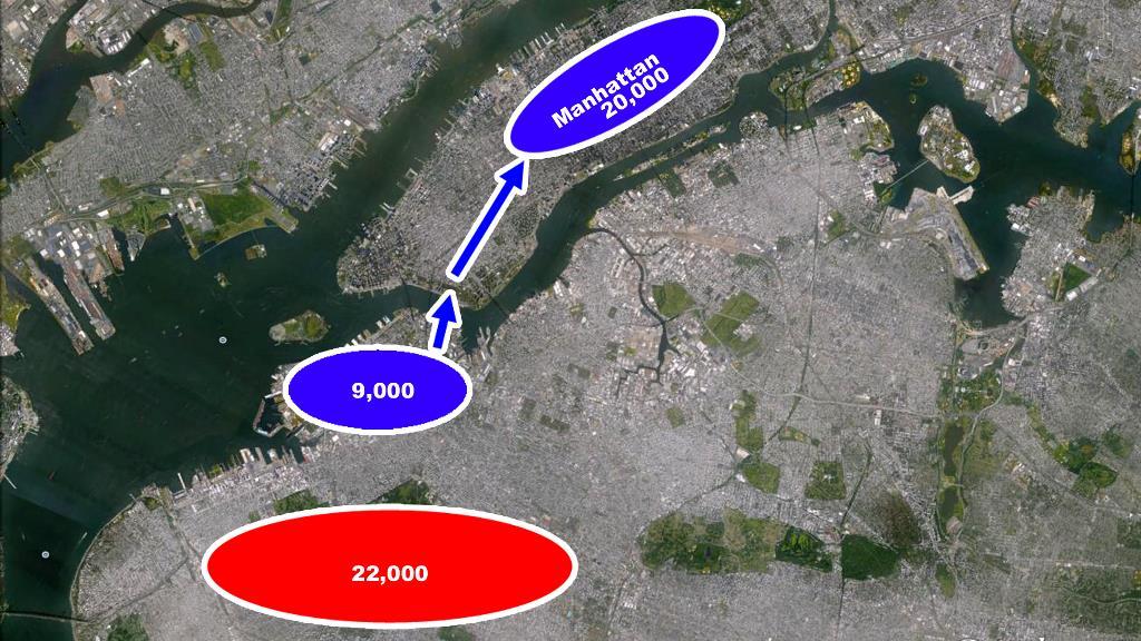 Retirada mapa ejercito continental manhattan nueva york washington