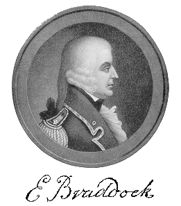 Retrato Mayor General Edward Braddock Comandante de la Armada Real George washington