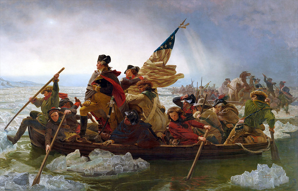 revolution coolest paintings best moments American Washington Crossing Delaware New Jersey attack British encampment Trenton
