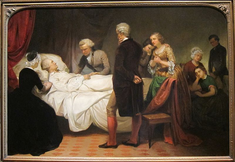 Washington  lecho muerte Junius Brutus Stearns 1851