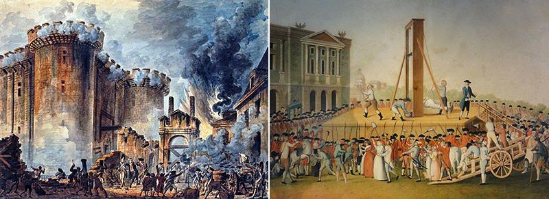 toma Bastilla Jean-Pierre Houel Marie Antoinette 1793 Place de la Concorde