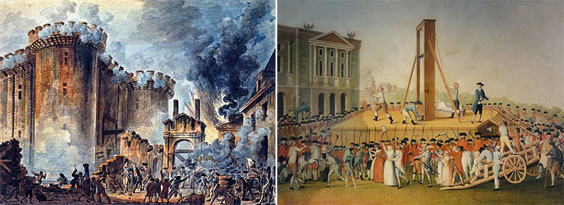 Storming  Bastille Jean-Pierre Houel execution Marie Antoinette1793 Place Concorde