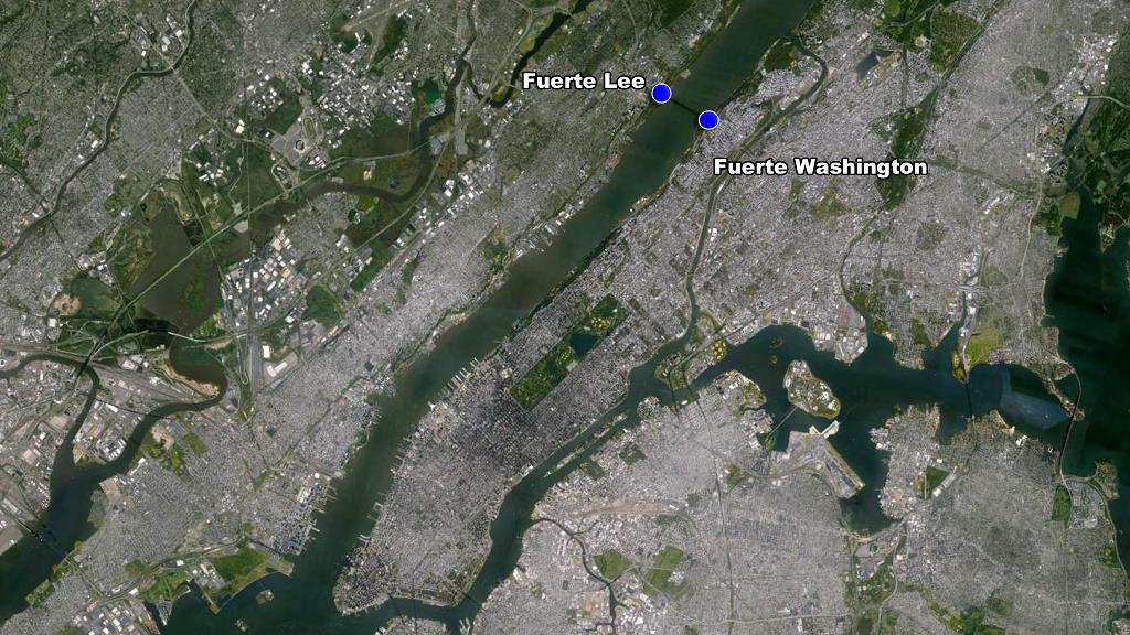 Washington Manhattan fuerte Lee Nueva Jersey mapa