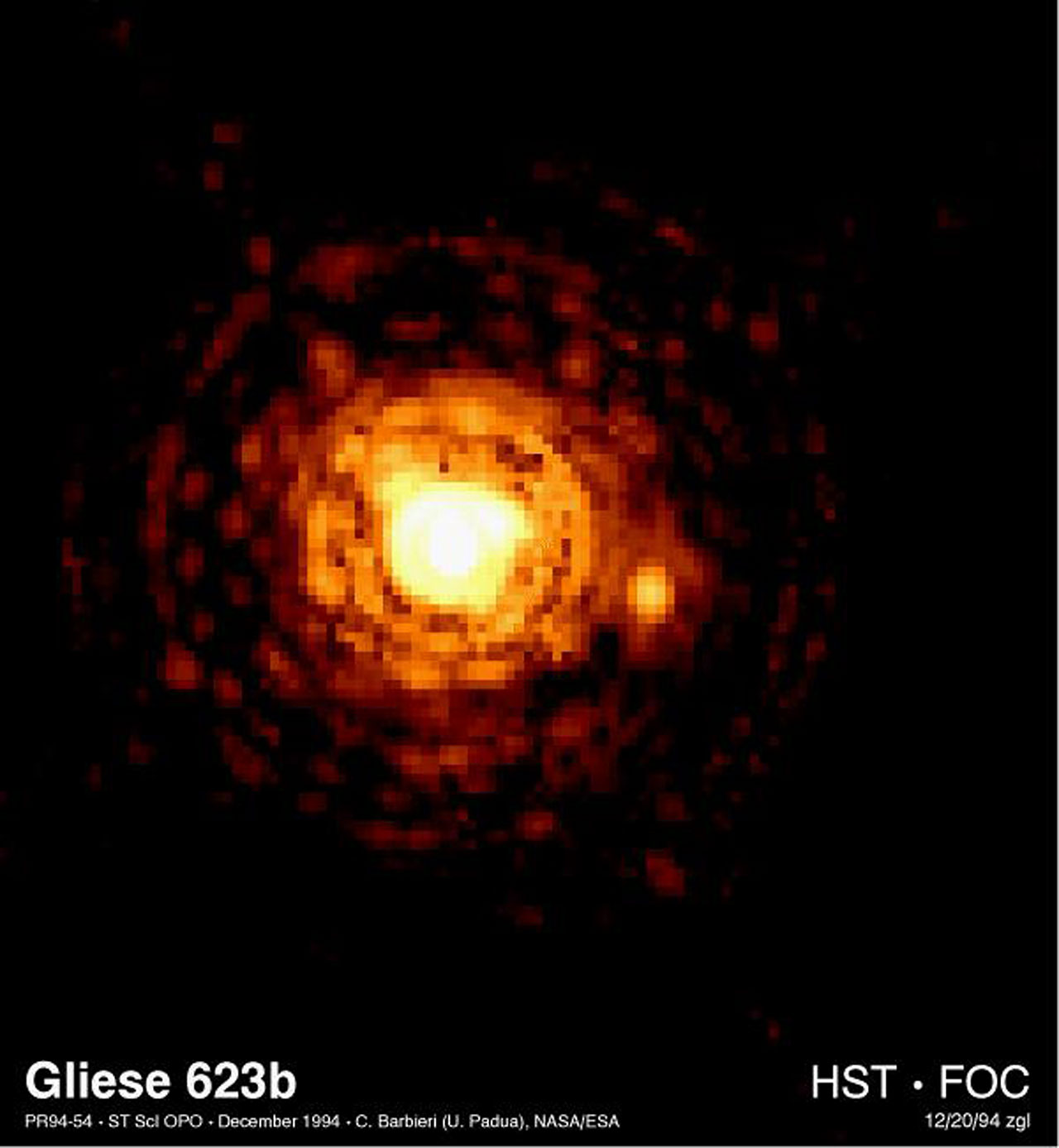 smallest stars Milky Way Galaxy binary system two red dwarfs Gliese 623b