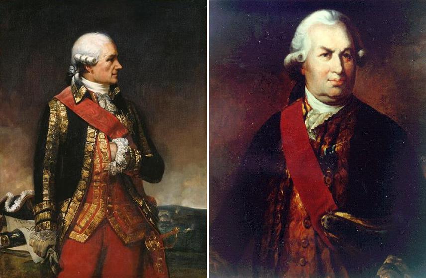Marshal Jean-Baptiste Donatien Vimeur conde de Rochambeau comandante jefe Armada Francesa François-Joseph Paul marquis Grasse Tilly conde almirante flota Naval