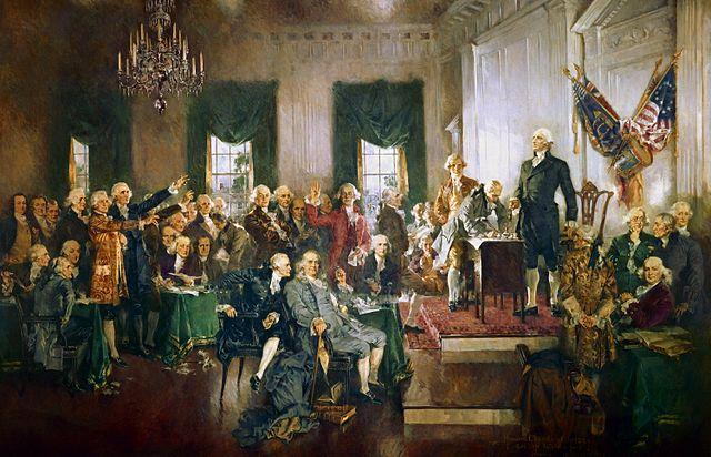 Scene Signing Constitution United States