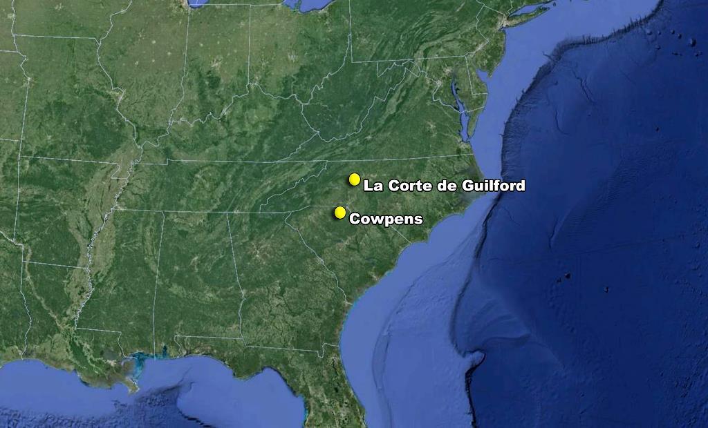 Dos victorias importantes General Greene Sur mapa