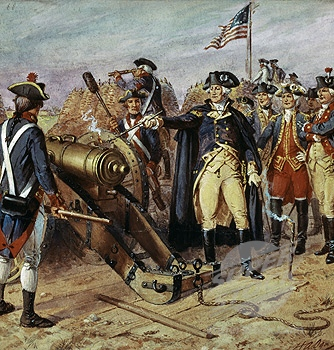 revolution Washington firing the first cannonball October 9 Siege of Yorktown