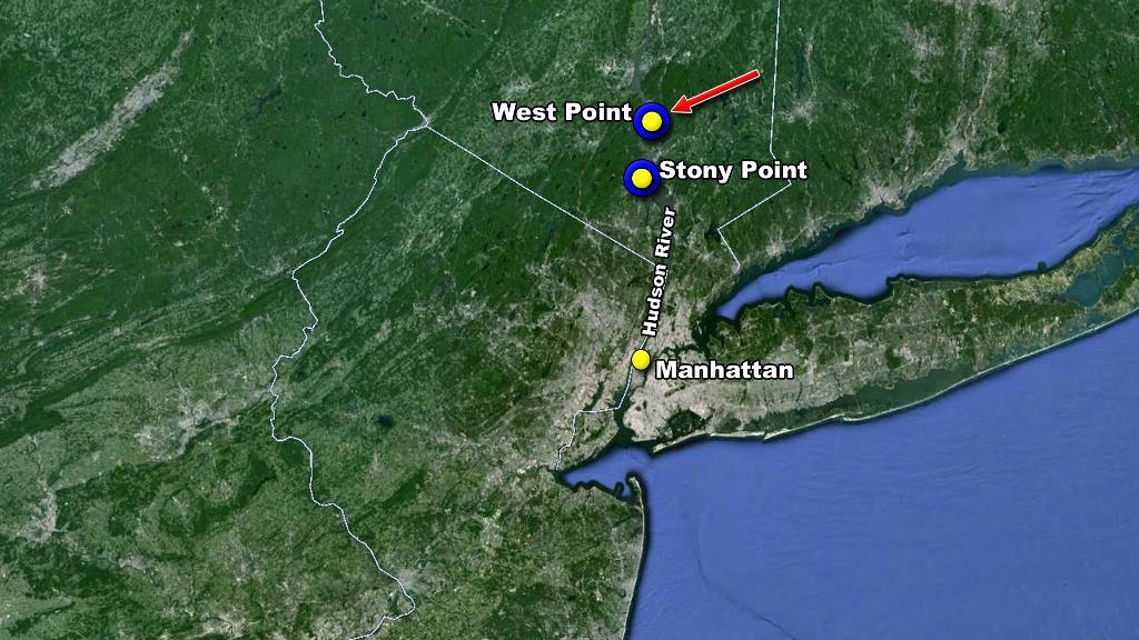 revolution location West Point map fort Arnold Benedict hand over  British treason traitor