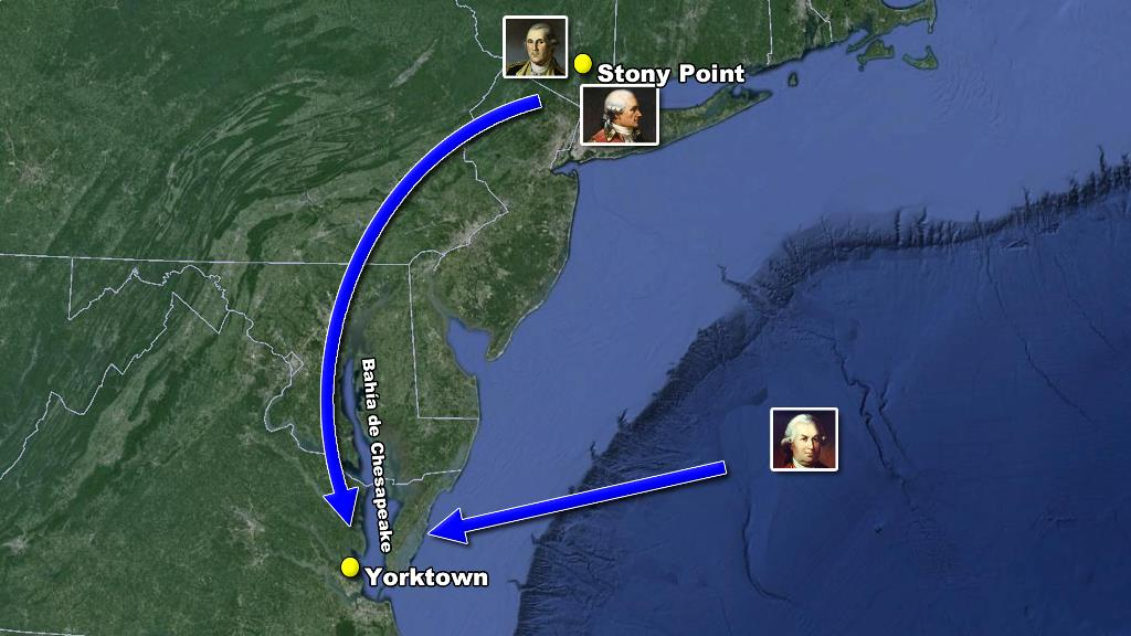 camino a Yorktown mapa washington