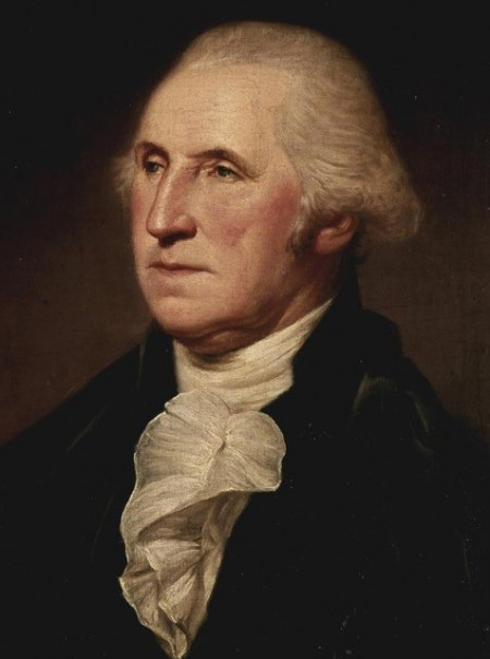 tired looking George Washington portrait second term end Painting Rembrandt Peale
