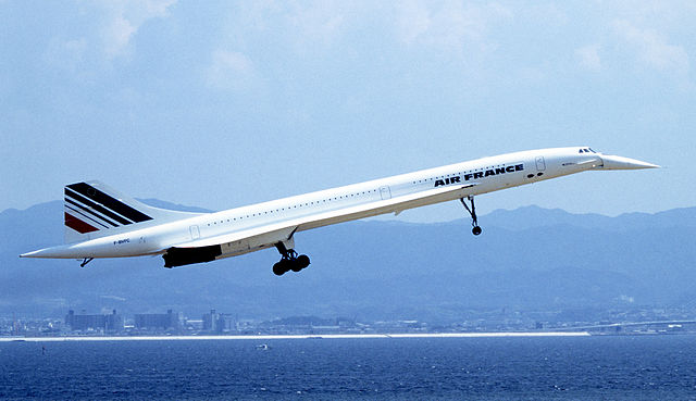 Concorde supersonic transport air france