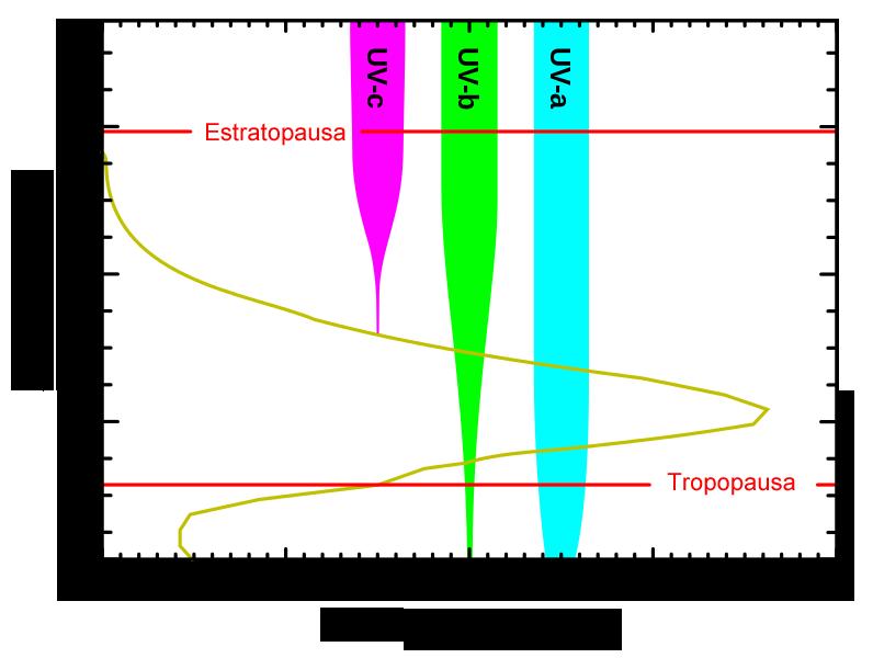 niveles ozono altitud bloquea tipos ultravioleta radiacion