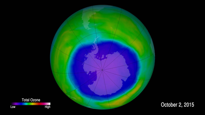 Ozone concentrations above Antarctica hole CFC chlorine compounds