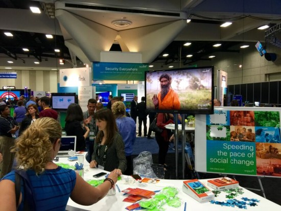 At the Cisco CSR Booth in the World of Solutions, our partners are sharing their stories of creating social change around the world.